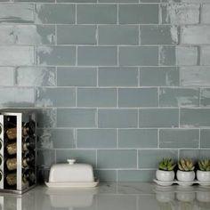 "EliteTile Biarritz Series 3"" x 6"" Ceramic Brick Look Subway Tile & Reviews | Wayfair Bathroom Flooring, Kitchen Flooring, Bathroom Wall, Kitchen Backsplash, Install Backsplash, Bathroom Ideas, Fireplace Facade, Fireplace Surrounds, Fireplace Hearth"
