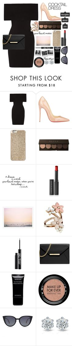 """""""Dangerous woman#4 BLACK"""" by oliviamur ❤ liked on Polyvore featuring Rosetta Getty, Christian Louboutin, Michael Kors, Le Métier de Beauté, Accessorize, Urban Decay, MICHAEL Michael Kors, Givenchy, MAKE UP FOR EVER and Fendi"""