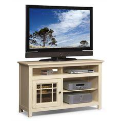 "Entertainment Furniture - Merrick 54"" TV Stand - White"