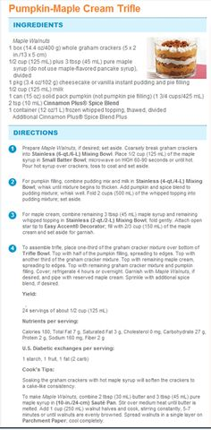 Pumpkin-Maple Cream Trifle | Pampered Chef Recipe