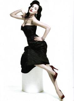 Dita von Teese in Harper's Bazaar