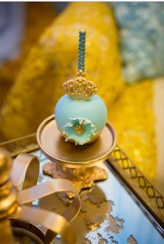 Gold and blue Royal baby shower   CatchMyParty.com