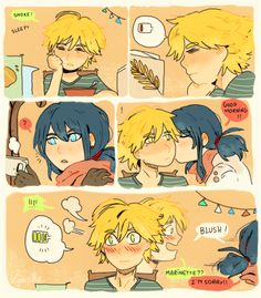 Oh Marinette, you are so clumsy. You missed his lips.  Now try again