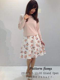 パターンフィオナ パターンフィオナさんのスカート「花柄フレアスカート 3(PATTERN fiona パターンフィオナ)」を使ったコーディネート