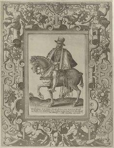 Ruiterportret van Willem I, prins van Oranje, Johannes of Lucas van Doetechum, Hans Vredeman de Vries, Abraham de Bruyn, c. 1570 - c. 1575