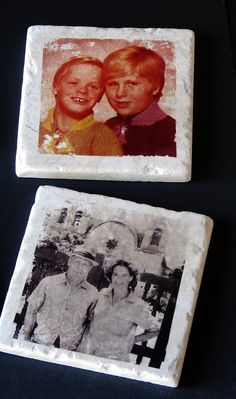 Transferring photos onto tiles using nail polish remover