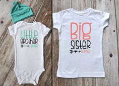 Big Sister Little Brother Outfit / Beanie Optional / Photo Prop / Big Sister Little Brother by iloveco on Etsy https://www.etsy.com/listing/239705189/big-sister-little-brother-outfit-beanie