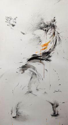 ewa hauton ink on paper 90x150cm