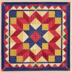 Color Study - Liberty Star - Chart Only Bargello Needlepoint, Needlepoint Patterns, Quilt Patterns, Canvas Designs, Canvas Patterns, Flower Collage, American Quilt, Color Studies, Barn Quilts