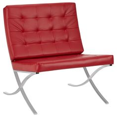 Lounge Chair with Metal Legs/CHAIRS/OFFICE/HOME ACCENTS|Bouclair.com