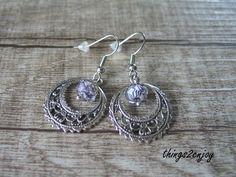 """Ohrhänger - Ohrhänger """"Lampwork"""" in violett - ein Designerstück von things2enjoy bei DaWanda"""