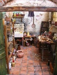 Fairy kitchen rustic | fairiehollow.com