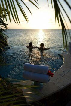 Beach Honeymoon: Curtain Bluff, Antigua. Wow place for #honeymoon. Pack your bags for honeymoon after having splendid #wedding at Star Fleet Yachts, Kemah, Texas.