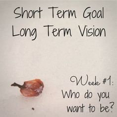 Who do you want to be?  Short Term Goal - Long Term Vision (Week #1 - Preparing for the 280 Day Challenge) | Acorn * Oak * Forest personal development quotes #quote #motivation