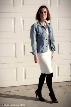 #over40 #over50 styling a summer dress for spring | High Latitude Style | http://www.highlatitudestyle.com
