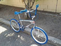 "BMX OLD SCHOOL 1981 20"" ROBINSON BLUE/CHROME"