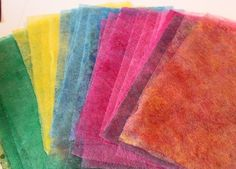 Dyed Dryer Sheets - no tutorial, but cool idea & seems simple enough for re-using the sheets. Very nice blog!
