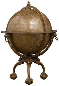 Robertus de Bailly (French, fl. 1530) Verrazano Globe, 1530 Gilded copper Diameter 5 1/2 inches (133mm) Purchased by Pierpont Morgan, 1912