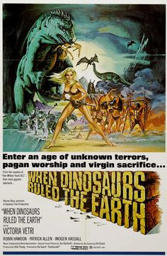 When Dinosaurs Ruled The Earth posters for sale online. Buy When Dinosaurs Ruled The Earth movie posters from Movie Poster Shop. We're your movie poster source for new releases and vintage movie posters. Hammer Horror Films, Sci Fi Horror Movies, Hammer Films, Horror Movie Posters, Film Posters, Cinema Posters, Cult Movies, Fiction Movies, Science Fiction