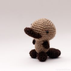 Free Crochet Pattern – Tiny AmigurumiPlatypus http://www.craftster.org/forum/index.php?action=profile;u=159361;sa=showImages#axzz3AfePCkYO