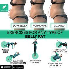 Gym Workout For Beginners, Workout Videos, Types Of Belly Fat, Flat Belly Workout, Reduce Belly Fat Workout, Waist Workout, Sport, Fett, Weight Loss