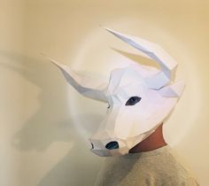 Make Your Minotaur Bull Mask from paper PDF pattern by FedoraHouse