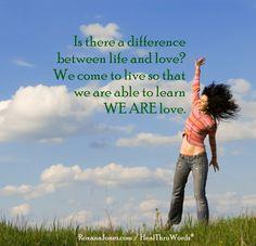 Inspirational Picture - Life and Love | HealThruWords | RoxanaJones.com