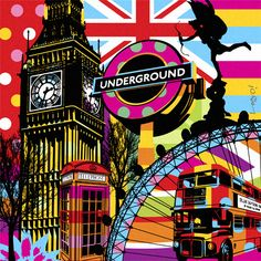 I LOVE LONDON | LONDON | LOBO | POP ART www.lobopopart.com.br