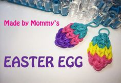 awesome Rainbow Loom Charms: Easter Egg on the Loom