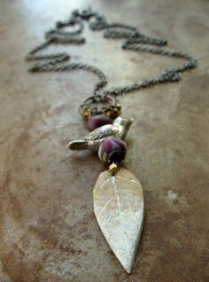 Winter Song Bird Pendant | Humblebeads Jewelry