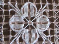 Andreea Ciorbagiu's media content and analytics Hardanger Embroidery, Embroidery Stitches, Embroidery Patterns, Hand Embroidery, Drawn Thread, Thread Painting, Crochet Tablecloth, Bargello, Lace Making