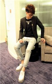 NIMUR Korea Men's Bound Feet Jeans 38$USD Mens Summer T Shirts, Korea, Polo Shirt, Clothes, Fashion, Outfits, Moda, Polos, Clothing