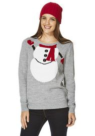 F&F Snowman Scarf Jumper with Hat