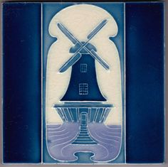 RAR! Jugendstil Fliese Kachel Art Nouveau Tile GIBBONS HINTON