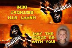 Star Wars Vader Party Favors Candy Bag Labels