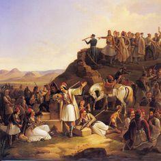 ΘΕΟΔΩΡΟΣ ΒΡΥΖΑΚΗΣ, Theodoros Vrizakis, 1819- 1878 Το στρατόπεδο του Καραϊσκάκη (1855) History, Greece, Paintings, Artists, Greece Country, Painting Art, Artist, Painting, Historia