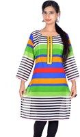 Show details for Vivaa Casual Full Sleeve Printed Women's Kurti