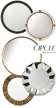 the HUNTED INTERIOR: Round Up: Circle Mirrors