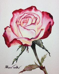 watercolorgallery #aquarius #art #watercolorpainting #watercolorist #watercolor #roses #waterblog #artists #flowers #aquarelle