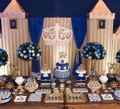 aniversario decoração madeira, dourado e azul - Pesquisa Google
