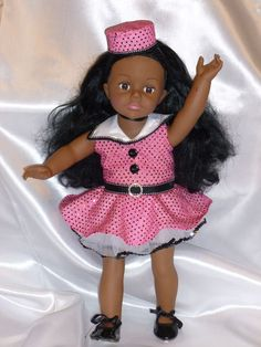Dance Hall in Pink 18 inch Doll Costume by DancinDollsDesigns, $25.00
