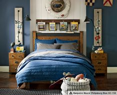 Love all this for the boys room especially the wall sconces.