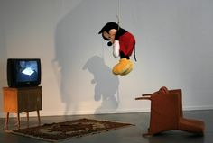 Mickey Mouse hanged http://art110.wikispaces.com/Toledanes-Kayla-P7