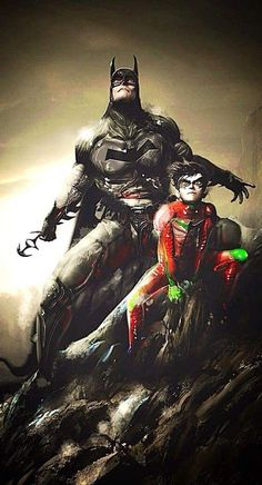 Batman and Robin by MJ Hiblen I Am Batman, Batman Art, Batman Robin, Nightwing, Batgirl, Catwoman, Arte Dc Comics, Bd Comics, Comic Book Heroes