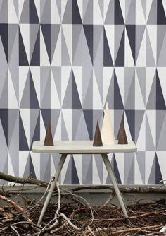 Ferm Living Shop — Spear (Gray) Wallpaper