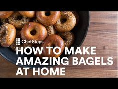 Next time you have a breakfast craving for a hot, fresh, delicious bagel, you could just bake your own! This recipe is for everything bagels, and I can almost smell them watching this video. Fudge, How To Make Bagels, Pbs Food, Homemade Bagels, Bagel Recipe, Just Bake, Everything Bagel, Cooking Videos, Cooking Recipes