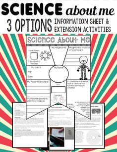 All About Me SCIENCE! A fun twist on an all about me pennant / banner, differentiated with 3 options and extension activities.