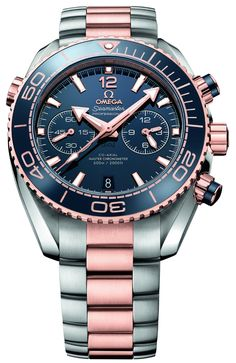 "Omega Seamaster Planet Ocean Master Chronometer Chronograph Watch, ""The Omega Planet Ocean collection is at bat for a healthy upgrade for Baselworld 2016. The Omega Seamaster Planet Ocean Master Chronometer chronograph watch is a big, bold, beautiful piece that has a METAS certified Master Chronometer movement, Omega's big selling point this year..."""