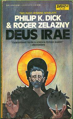 Deus Irae by Philip K. Art by Bob Pepper. Horror Fiction, Pulp Fiction, Book Cover Art, Book Art, Book Covers, Roger Zelazny, Classic Sci Fi Books, Arte Do Harry Potter, K Dick