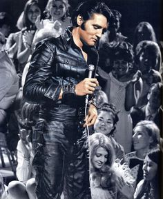 Elvis on stage at the NBC Studios on June 29, 1968.